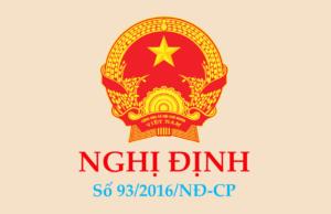 Nghị định 93/2016/NĐ-CP