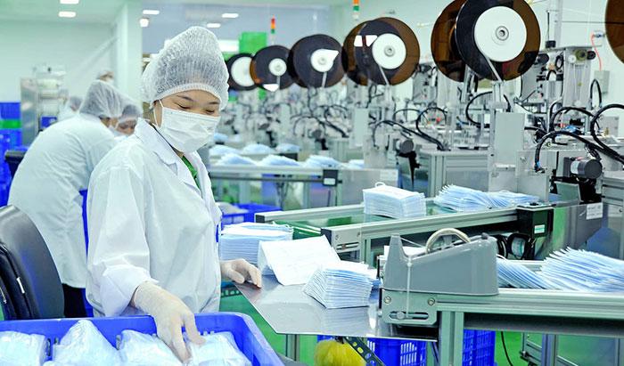 Sản xuất khẩu trang trong phòng sạch
